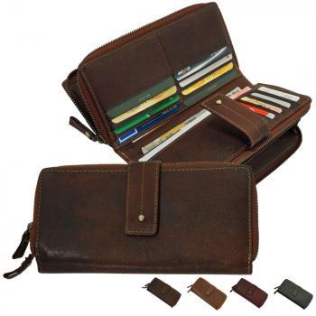 Branco Leder Damen-Geldbörse Portemonnaie Geldbeutel Geldtasche brown 79274